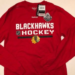 Reebok Chicago BlackHawks long sleeve shirt